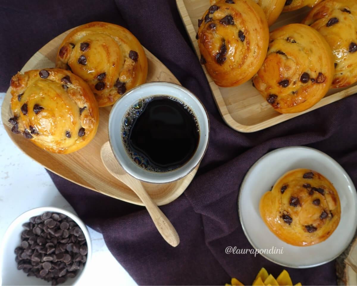 Girelle light con gocce di cioccolato: la Ricetta con metodo Tang Zhong