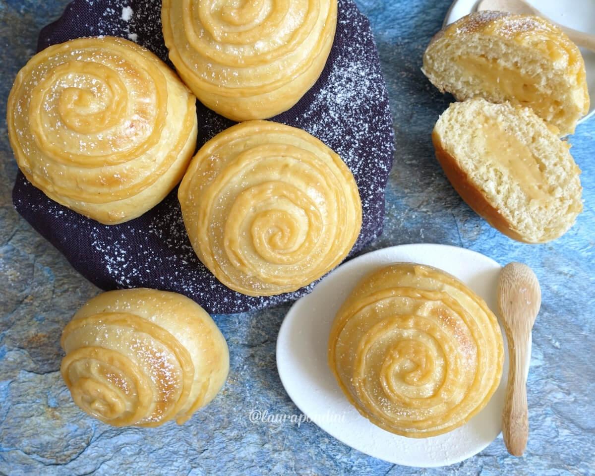Panini dolci con crema pasticciera fit: la Ricetta con metodo Tang Zhong