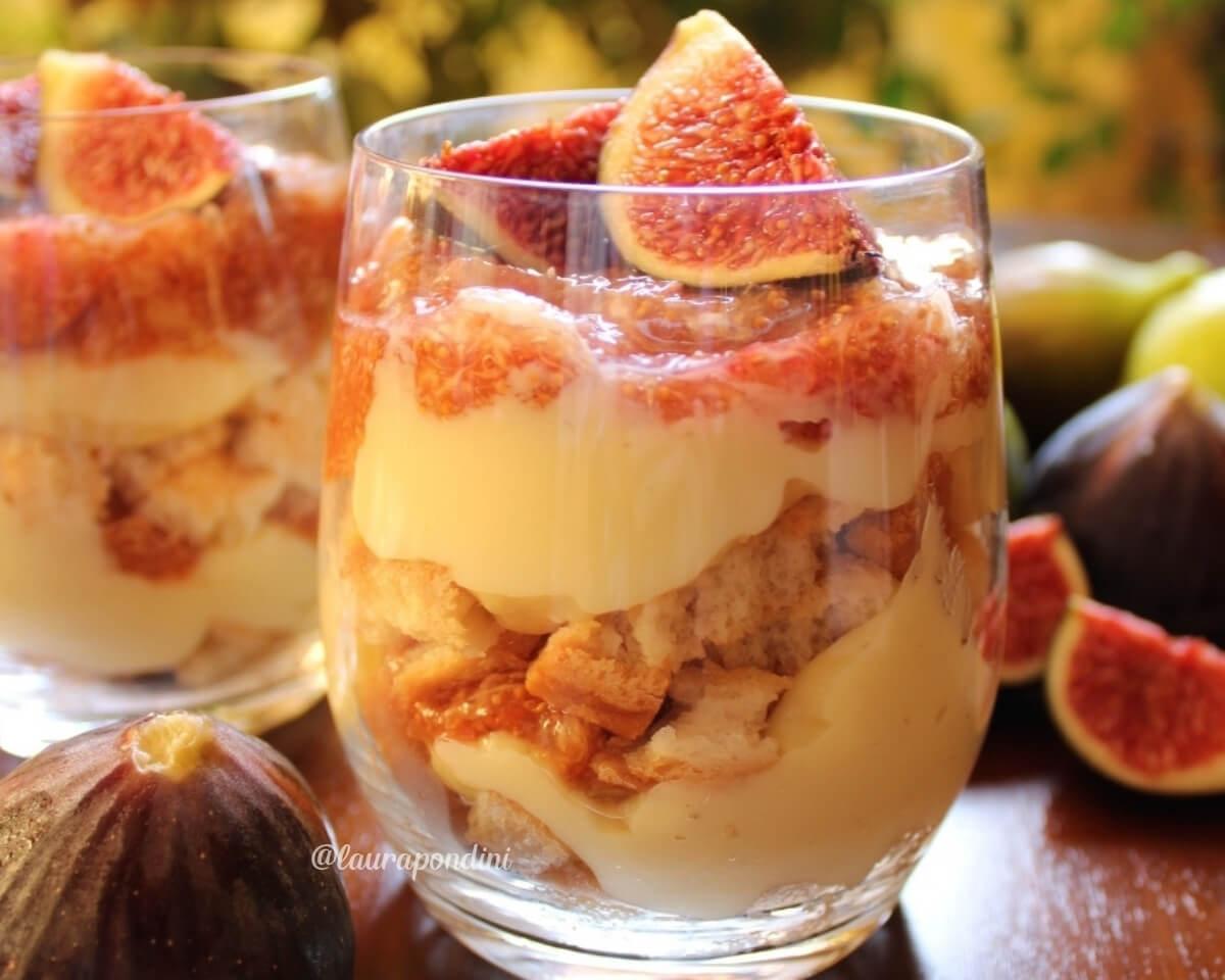 Dessert con crema pasticcera e fichi freschi: la Ricetta facile e golosa